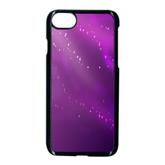 Space Star Planet Galaxy Purple Apple Iphone 7 Seamless Case (black)