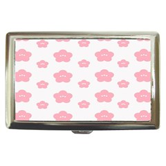 Star Pink Flower Polka Dots Cigarette Money Cases by Mariart