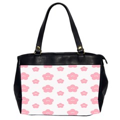 Star Pink Flower Polka Dots Office Handbags (2 Sides)  by Mariart