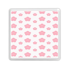 Star Pink Flower Polka Dots Memory Card Reader (square)  by Mariart