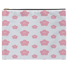 Star Pink Flower Polka Dots Cosmetic Bag (xxxl)  by Mariart