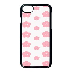Star Pink Flower Polka Dots Apple Iphone 7 Seamless Case (black) by Mariart