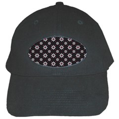 Sunflower Star Floral Purple Pink Black Cap by Mariart
