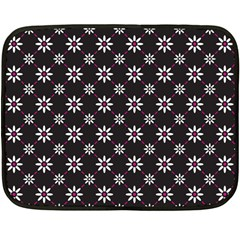 Sunflower Star Floral Purple Pink Double Sided Fleece Blanket (mini)  by Mariart