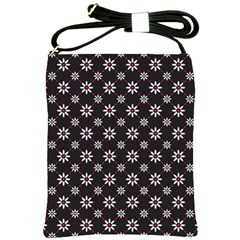 Sunflower Star Floral Purple Pink Shoulder Sling Bags by Mariart