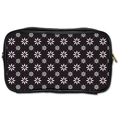 Sunflower Star Floral Purple Pink Toiletries Bags by Mariart