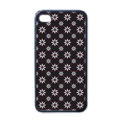 Sunflower Star Floral Purple Pink Apple Iphone 4 Case (black) by Mariart