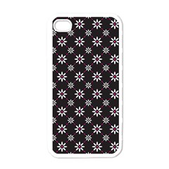 Sunflower Star Floral Purple Pink Apple Iphone 4 Case (white) by Mariart