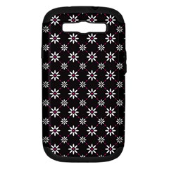 Sunflower Star Floral Purple Pink Samsung Galaxy S Iii Hardshell Case (pc+silicone) by Mariart