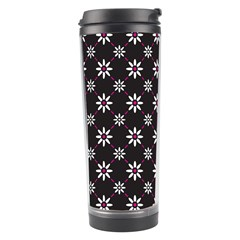 Sunflower Star Floral Purple Pink Travel Tumbler by Mariart