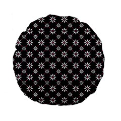 Sunflower Star Floral Purple Pink Standard 15  Premium Flano Round Cushions by Mariart