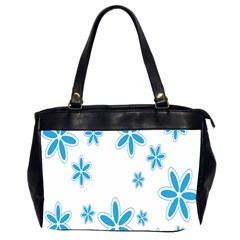Star Flower Blue Office Handbags (2 Sides)  by Mariart