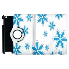 Star Flower Blue Apple Ipad 3/4 Flip 360 Case by Mariart