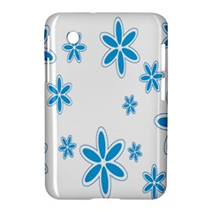 Star Flower Blue Samsung Galaxy Tab 2 (7 ) P3100 Hardshell Case  by Mariart