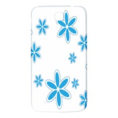 Star Flower Blue Samsung Galaxy Mega I9200 Hardshell Back Case by Mariart