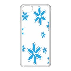 Star Flower Blue Apple Iphone 7 Seamless Case (white) by Mariart