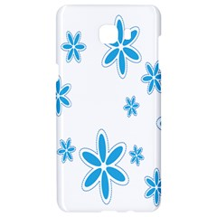 Star Flower Blue Samsung C9 Pro Hardshell Case  by Mariart