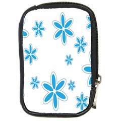 Star Flower Blue Compact Camera Cases by Mariart