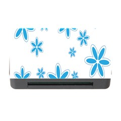 Star Flower Blue Memory Card Reader With Cf by Mariart