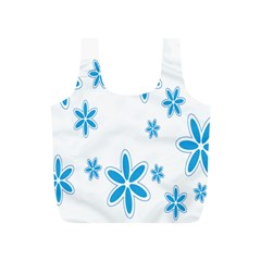 Star Flower Blue Full Print Recycle Bags (s)  by Mariart