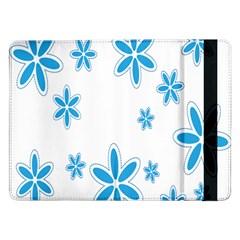 Star Flower Blue Samsung Galaxy Tab Pro 12 2  Flip Case by Mariart