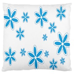 Star Flower Blue Standard Flano Cushion Case (one Side) by Mariart