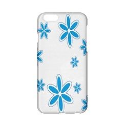 Star Flower Blue Apple Iphone 6/6s Hardshell Case by Mariart