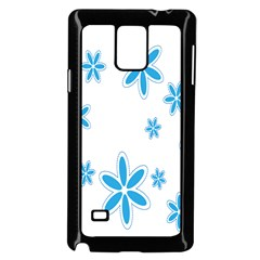 Star Flower Blue Samsung Galaxy Note 4 Case (black)