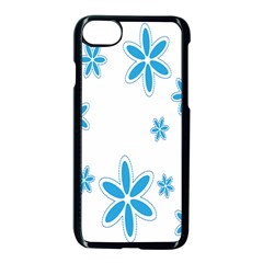 Star Flower Blue Apple Iphone 7 Seamless Case (black) by Mariart