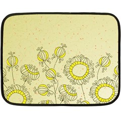 Sunflower Fly Flower Floral Double Sided Fleece Blanket (mini)  by Mariart