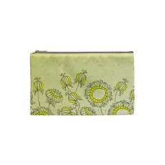Sunflower Fly Flower Floral Cosmetic Bag (small)  by Mariart