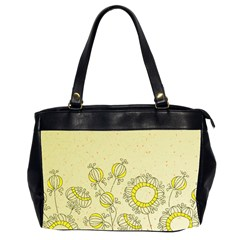 Sunflower Fly Flower Floral Office Handbags (2 Sides)  by Mariart