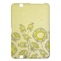 Sunflower Fly Flower Floral Kindle Fire Hd 8 9  by Mariart
