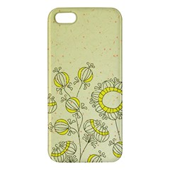 Sunflower Fly Flower Floral Iphone 5s/ Se Premium Hardshell Case by Mariart