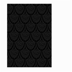 Skin Abstract Wallpaper Dump Black Flower  Wave Chevron Large Garden Flag (two Sides) by Mariart