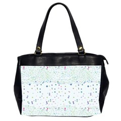 Spot Polka Dots Blue Pink Sexy Office Handbags (2 Sides)  by Mariart