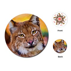 Tiger Beetle Lion Tiger Animals Playing Cards (round)  by Mariart