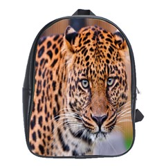 Tiger Beetle Lion Tiger Animals Leopard School Bag (large) by Mariart