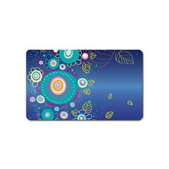 Flower Blue Floral Sunflower Star Polka Dots Sexy Magnet (name Card) by Mariart