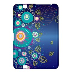 Flower Blue Floral Sunflower Star Polka Dots Sexy Kindle Fire Hd 8 9  by Mariart