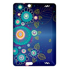 Flower Blue Floral Sunflower Star Polka Dots Sexy Amazon Kindle Fire Hd (2013) Hardshell Case by Mariart