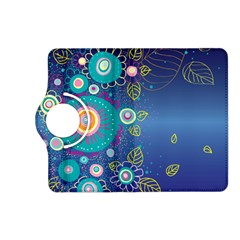 Flower Blue Floral Sunflower Star Polka Dots Sexy Kindle Fire Hd (2013) Flip 360 Case by Mariart