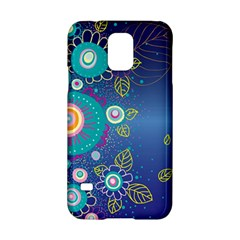 Flower Blue Floral Sunflower Star Polka Dots Sexy Samsung Galaxy S5 Hardshell Case  by Mariart