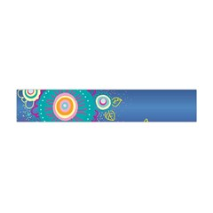 Flower Blue Floral Sunflower Star Polka Dots Sexy Flano Scarf (mini) by Mariart