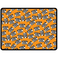 Pattern Halloween  Fleece Blanket (large)  by iCreate