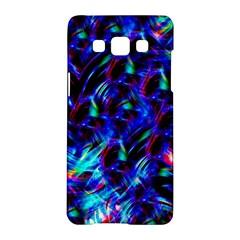 Dark Neon Stuff Blue Red Black Rainbow Light Samsung Galaxy A5 Hardshell Case  by Mariart