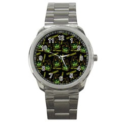Pattern Halloween Witch Got Candy? Icreate Sport Metal Watch by iCreate