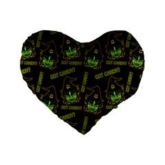 Pattern Halloween Witch Got Candy? Icreate Standard 16  Premium Heart Shape Cushions