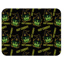 Pattern Halloween Witch Got Candy? Icreate Double Sided Flano Blanket (medium)  by iCreate