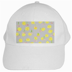Cute Fruit Cerry Yellow Green Pink White Cap by Mariart